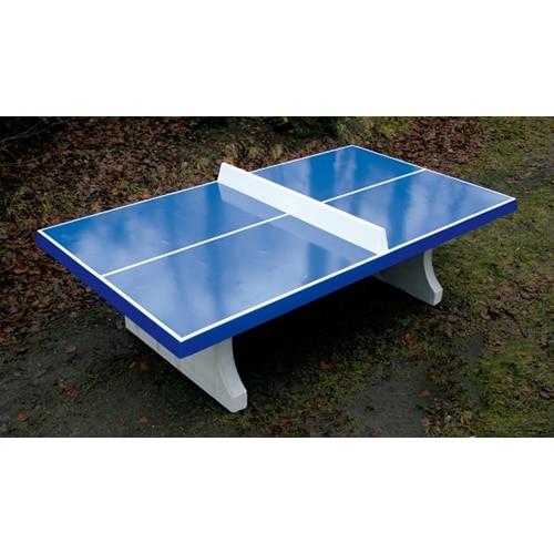 Table Ping Pong Exterieur Beton Bleue Partenaire Collectivite