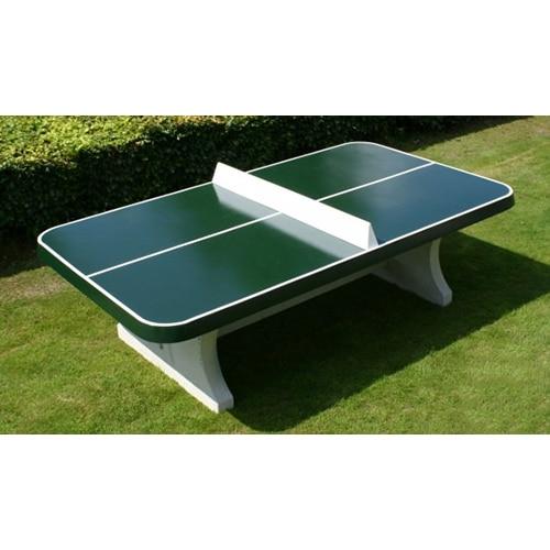 Table Ping Pong Angles Arrondis Exterieur Beton Verte Partenaire