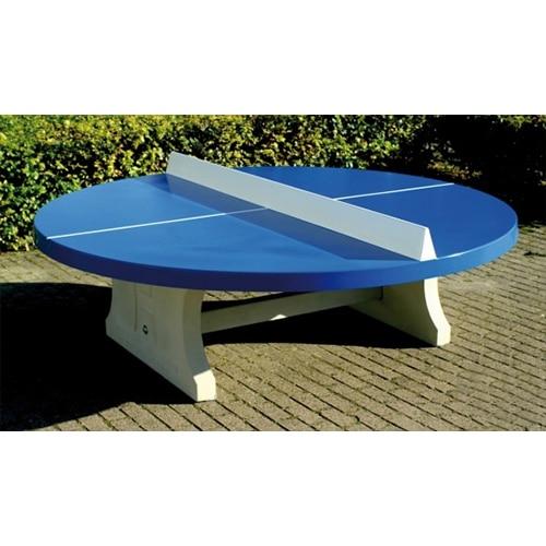 Table Ping Pong Rondes Exterieur Beton Bleue Partenaire Collectivite
