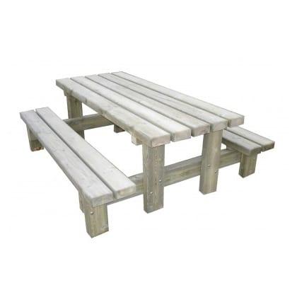table banc rustique 2 m PC 9006 AL - AMÉNAGEMENT